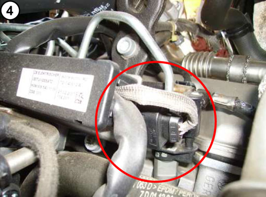 Place of P00B9 in engine