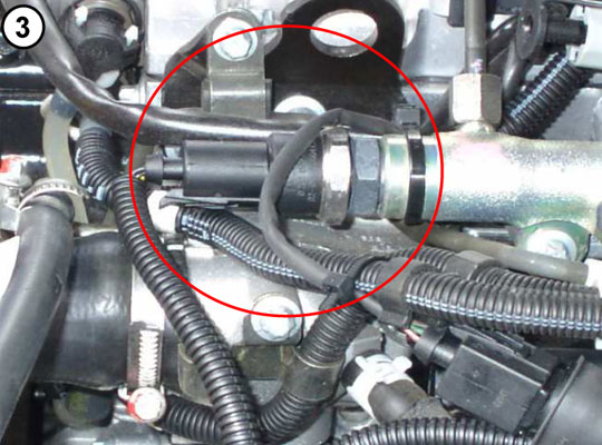 Place of B0250 in engine